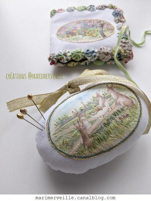Créations textiles 2 pour Pâques - excclusivités @Marimerveille