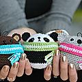 Tuto amigurumi : ourson, panda, koala