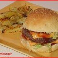 Hamburger et ses patatoes