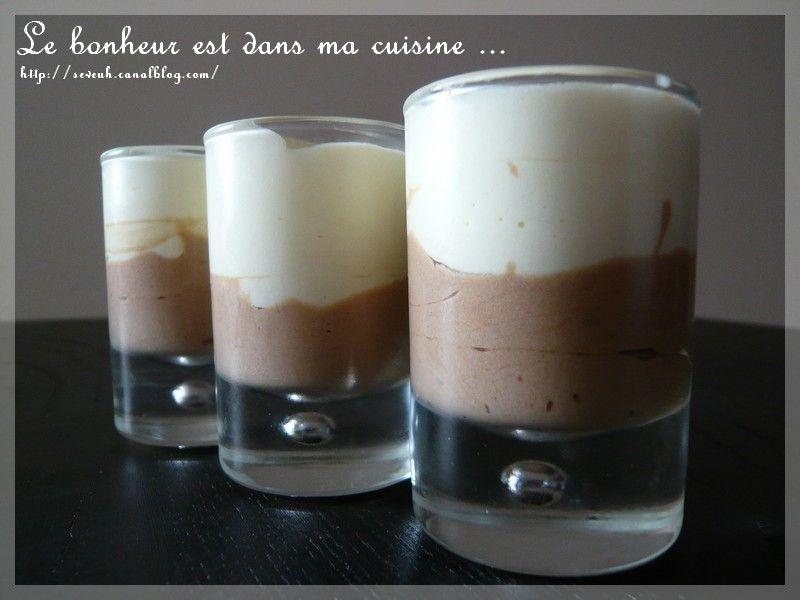 Duos De Mousses Au Chocolat Blanc Et Lait Le Bonheur Est Dans Ma