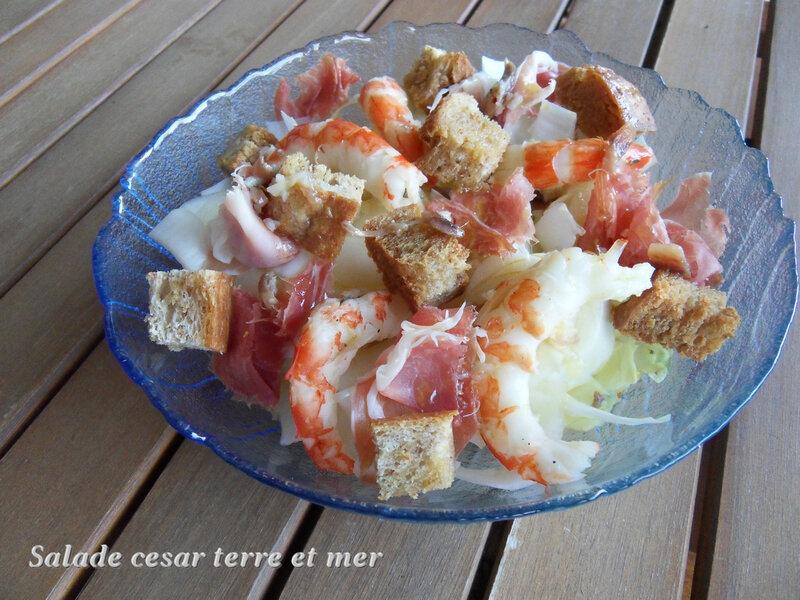 salade cesar terre et mer
