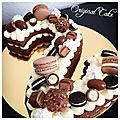 Number cake 2 chocolat