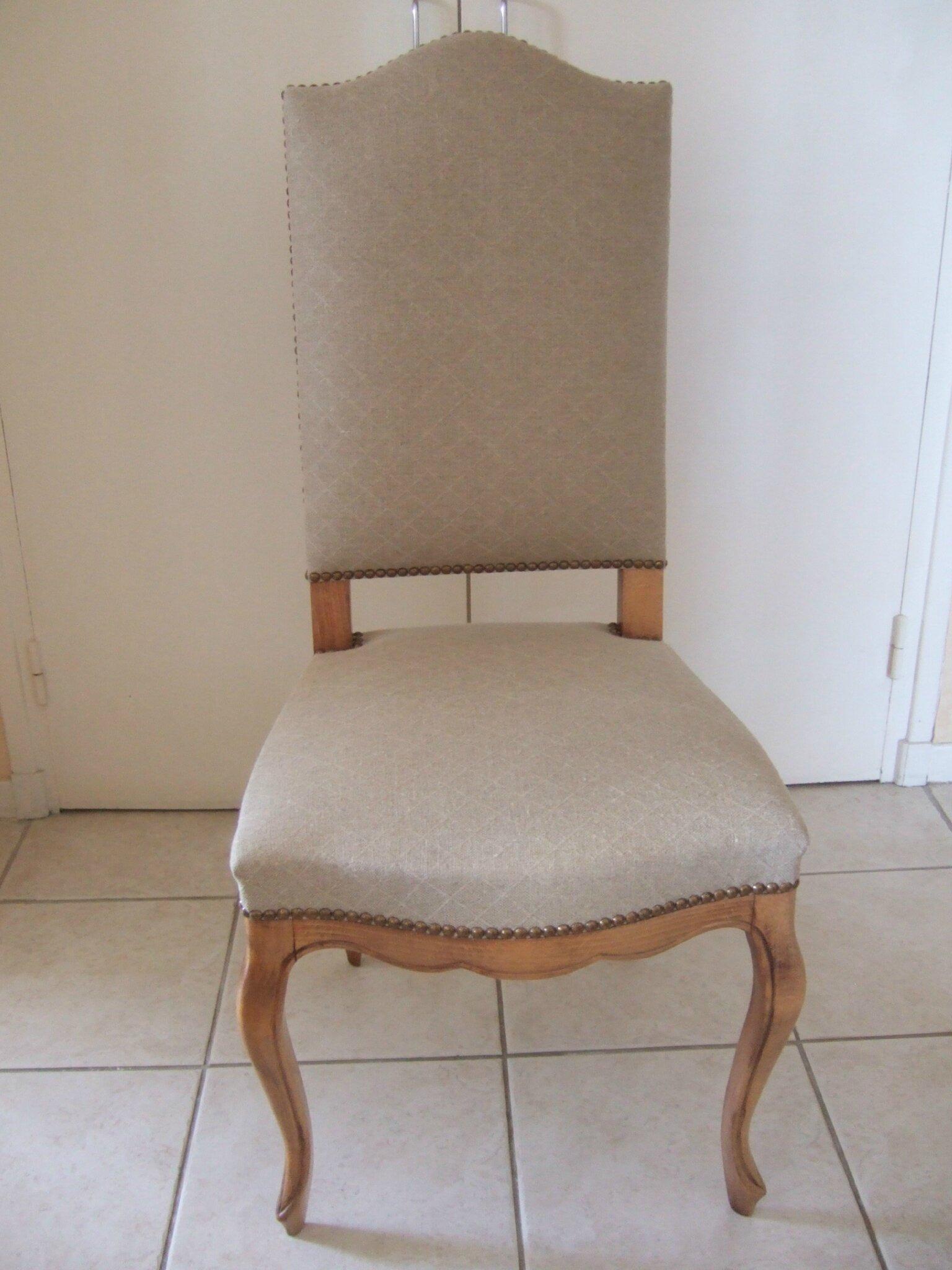 chaise de style lin naturel