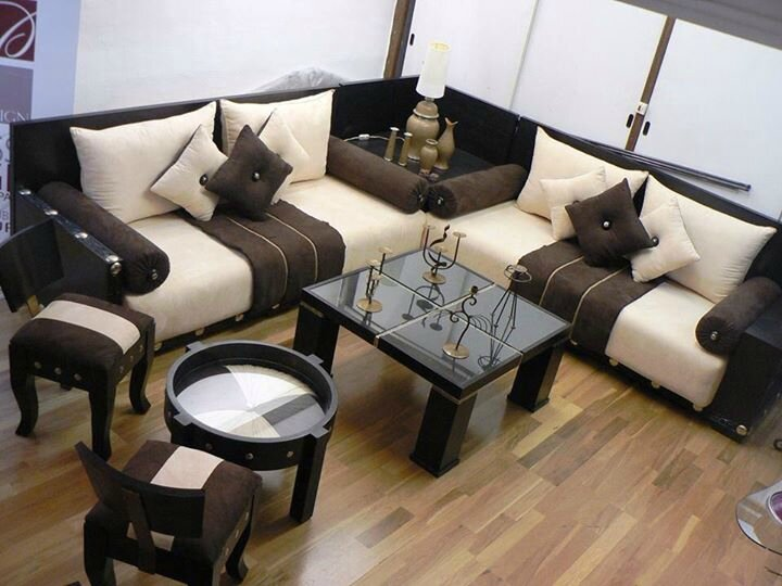 La décoration de salon Marocain contemporain - Maroc artisanat