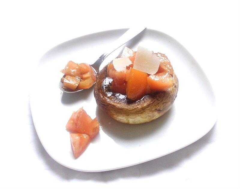 Champignon farcis aux tomates2