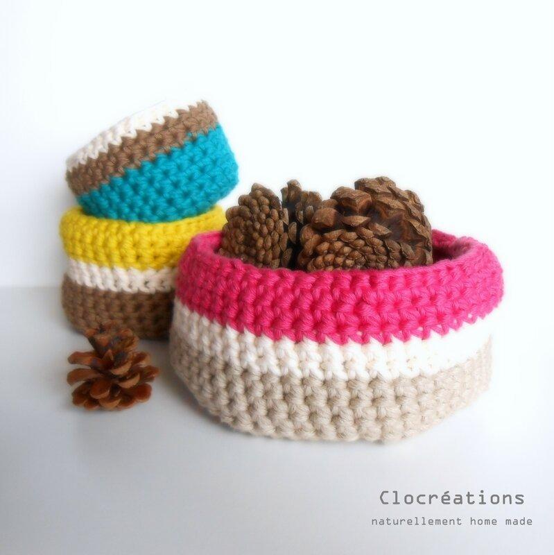 Clocréations panière en coton crocheté1