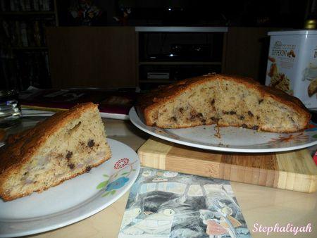 Gâteau moelleux bananes - pépites de chocolat -- 2