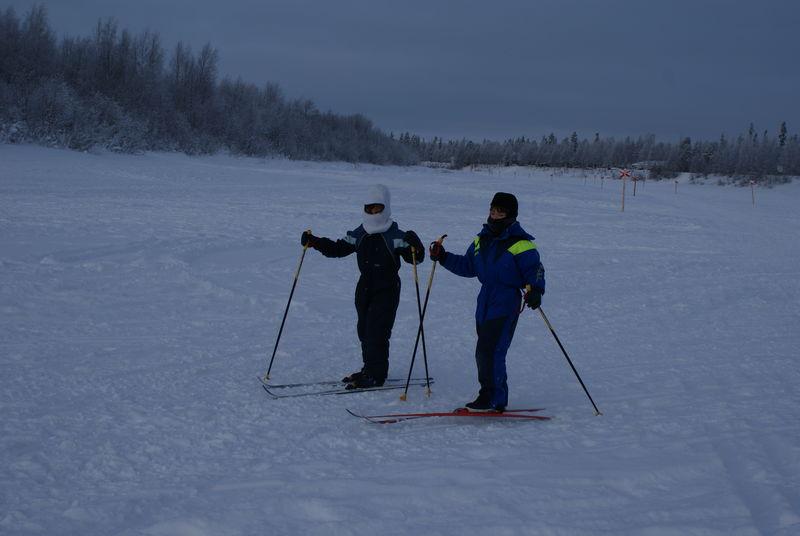 Les petites demoiselles en ski de fond