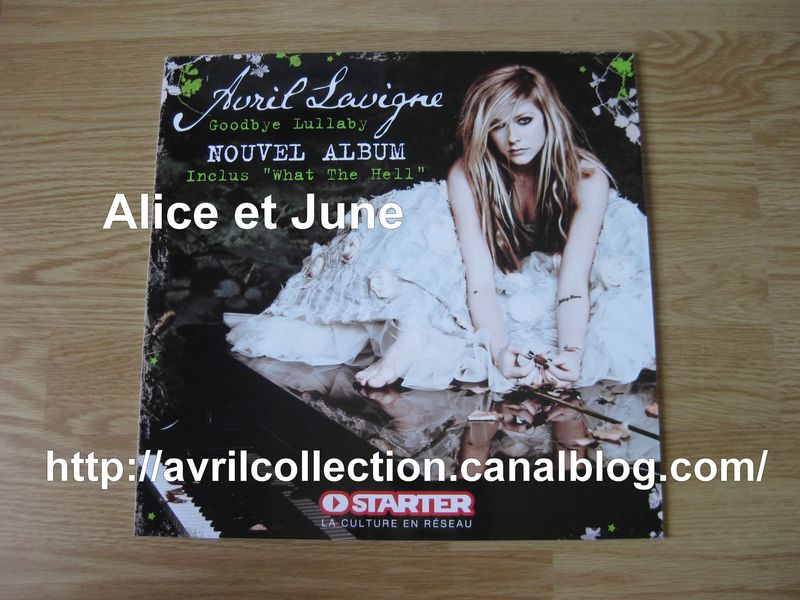 Panneau promotionnel Goodbye Lullaby-Starter 30x30 (2011)