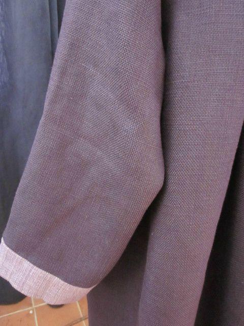 manteau en lin prune et parme (4)