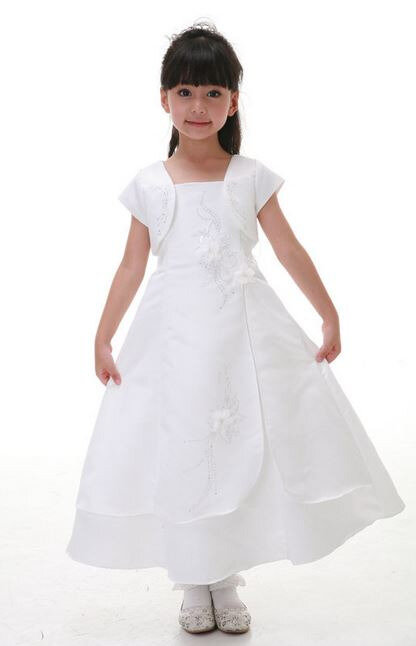 Robe blanche fille 2 ans