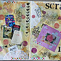 Une double page d'art journal