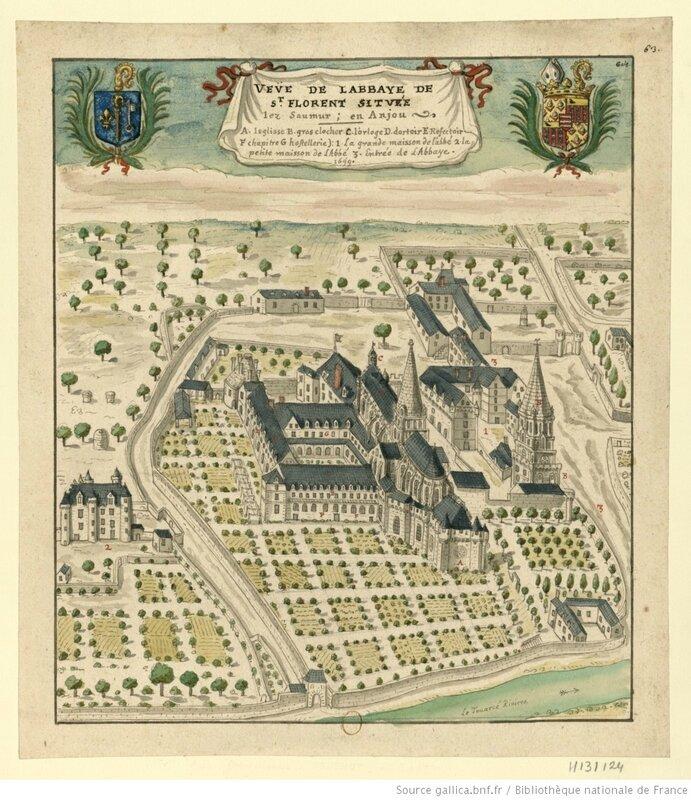 Abbaye de St Florent située lez Saumur en Anjou Boudan_Louis_