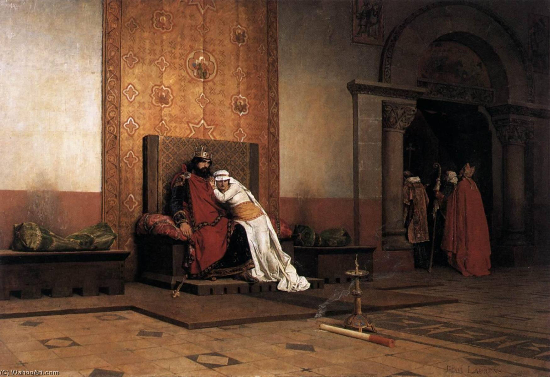Jean-Paul-Laurens-The-Excommunication-of-Robert-the-Pious