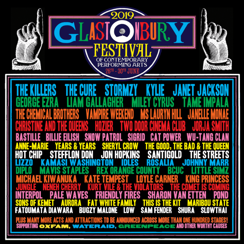 Glastonbury_festival_2019_line-up_programmation_Pilton_Worthy Farm_poster_affiche