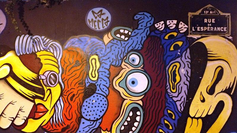 Fresque murale, Butte aux cailles