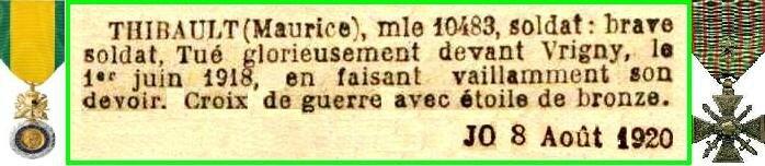 THIBAULT 1918 9EM