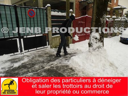 Obligation de déneiger son trottoir Noisy-le-Sec © JENB Productions