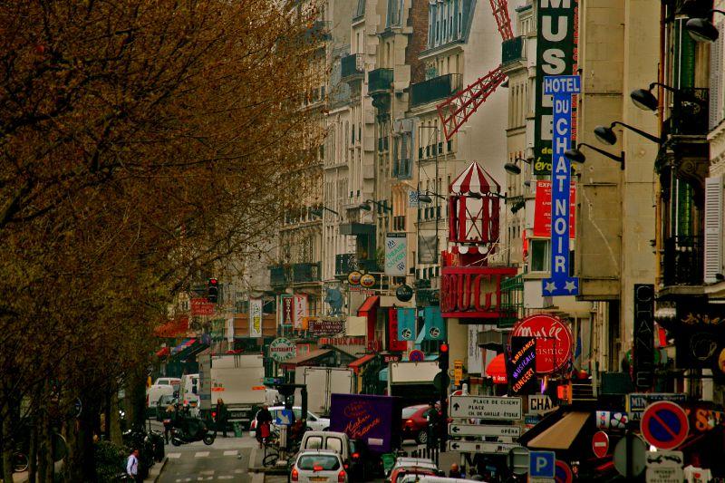 Animation sur le Boulevard de Clichy.