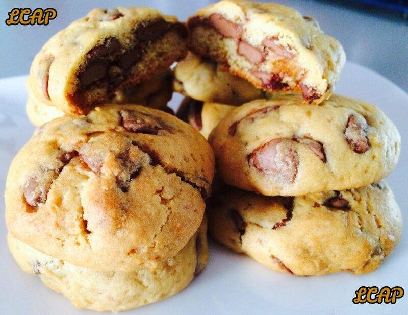 cookies au chocolat praliné - LA CUISINE DANNA PURPLE (3)
