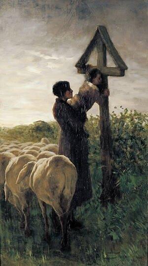 embrasser la croix_giovanni Segantini