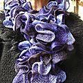 Echarpe violette G