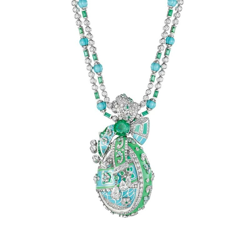 Best jewellery_Basel 2015_Faberge summer in provence egg necklace