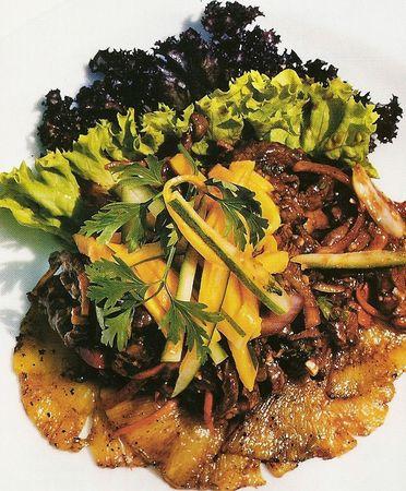 Thai_Beef Salade Boeuf thai à la mangue Yam Tok