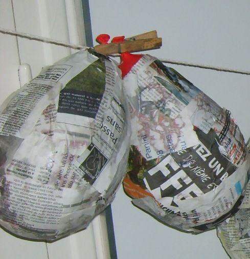 Pinata Hecha Con Globo Y Pegamento Las Manualidades De Claudia Moriame