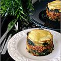 Parmentiers de veau aux épinards & fromage a raclette