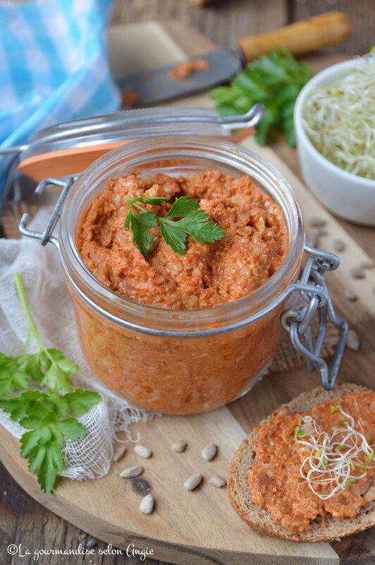 tartinade végétale poivron et graines de tournesol sans gluten (1)