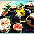Petits sablés aux figues noires,mascarpone