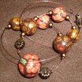 Collier fleurs d'antan
