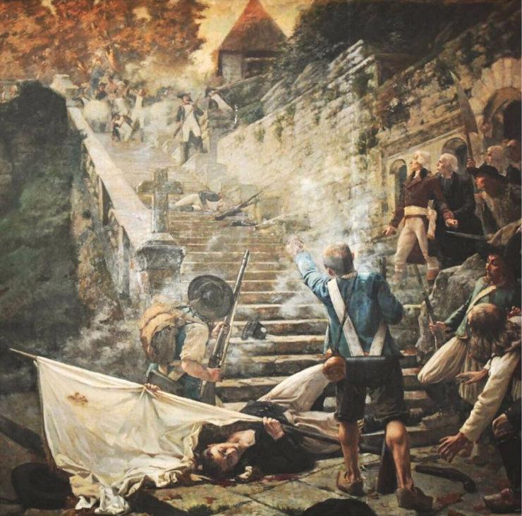 Les derniers Chouans devant Sainte-Barbe au Faouët