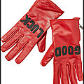 Gants good luck en cuir rouge - scotch & soda