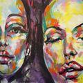 detail freque femmes et maquillage, en face foufounes electriques, montreal, canada