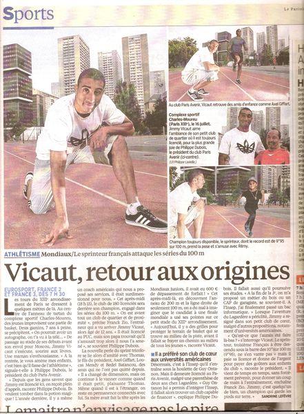 20130810 Le Parisien Jimmy Vicaut Philippe Dubois0001
