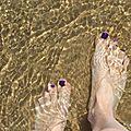 Les pieds dans l'eau... trop rarement à mon goût !!
