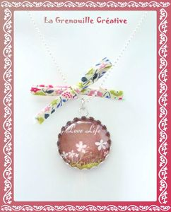 Collier verre Love Life (1)