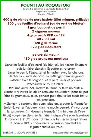 Pounti au roquefort_fiche