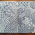 Quelques zentangle en novembre 2018