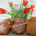 Beignets façon mamounette, farine et polenta à la pomme du verger, bon mardi gras