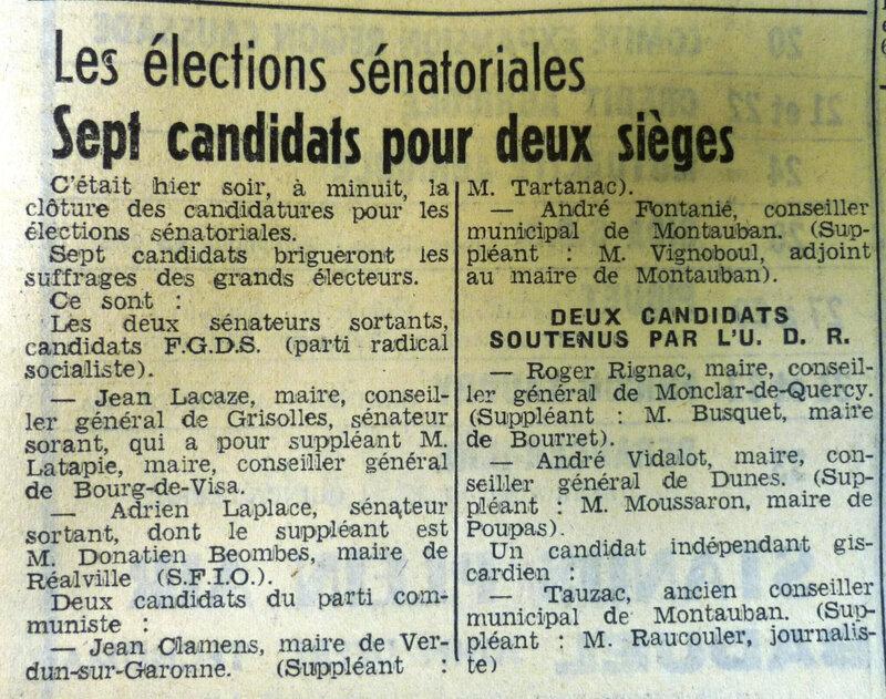 candidats sénateurs