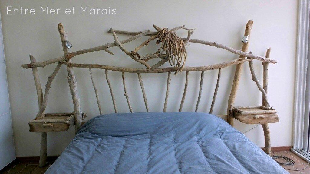 ttes de lit en bois flott - Tete De Lit En Bois