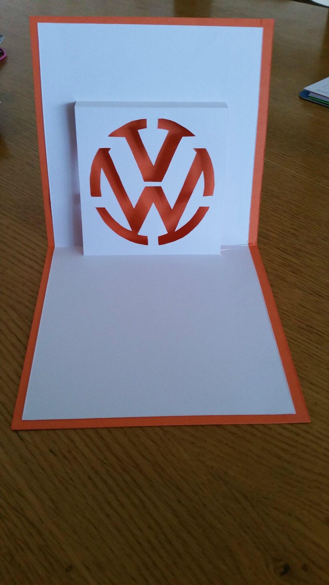 Kirigami logo Volkswagen