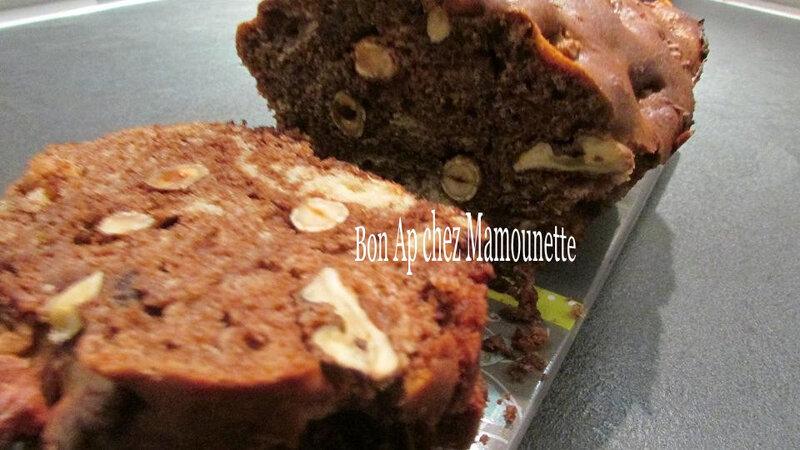 Gâteau aux noix chocolat noisettes 036