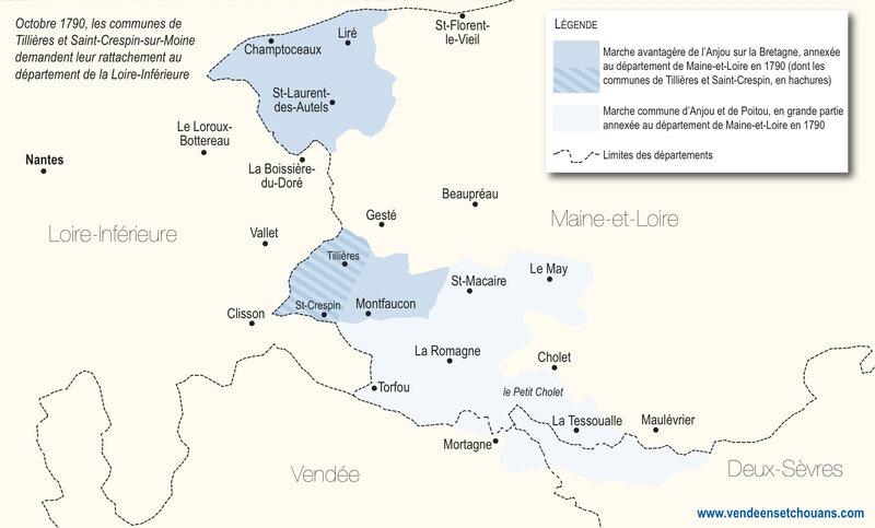 Carte Tillieres St-Crespin 1790