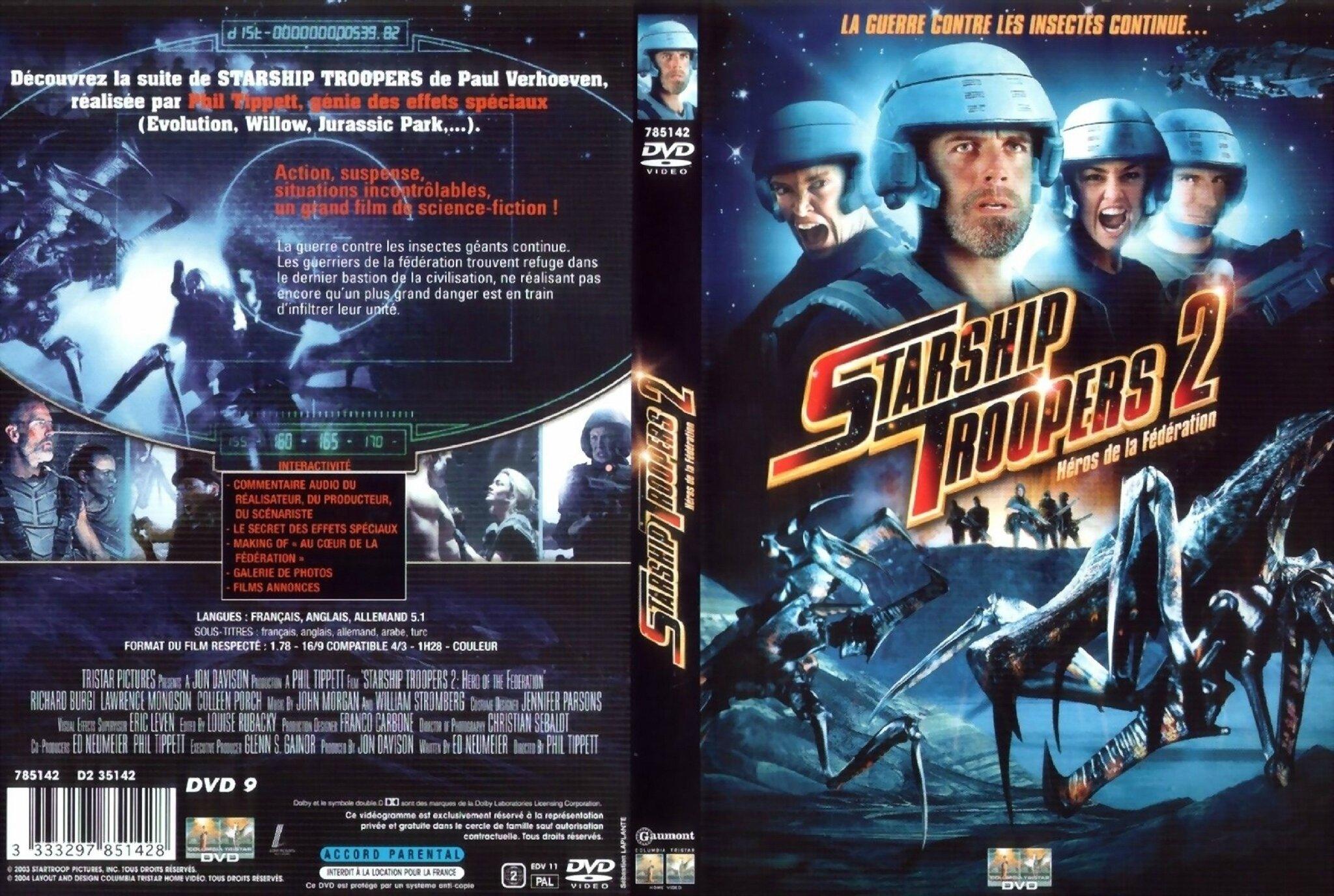Jaquette Starship Troopers 2 : Héros de la Fédération