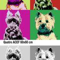 Deux portraits de chiens (2009)