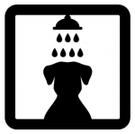 Sticker pictogramme douche ANI10